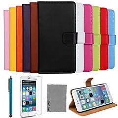 Недорогие Кейсы для iPhone-Кейс для Назначение Apple iPhone 8 iPhone 8 Plus iPhone 6 iPhone 6 Plus Бумажник для карт со стендом Флип Чехол Сплошной цвет Твердый