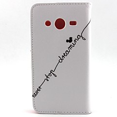 Na Samsung Galaxy Etui Portfel / Etui na karty / Z podpórką / Flip Kılıf Futerał Kılıf Napis Skóra PU SamsungCore Prime / Core Plus /