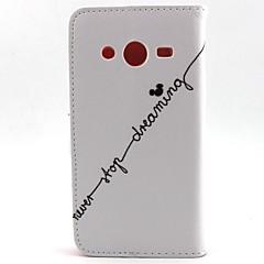 voordelige Galaxy Alpha Hoesjes / covers-Voor Samsung Galaxy hoesje Portemonnee / Kaarthouder / met standaard / Flip hoesje Volledige behuizing hoesje Woord / tekst PU-leer