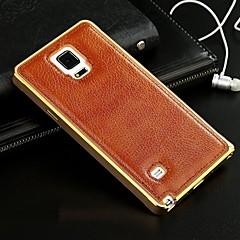 Na Samsung Galaxy Etui Galwanizowane Kılıf Etui na tył Kılıf Jeden kolor Skóra naturalna Samsung A7 / A5 / A3