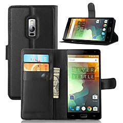 お買い得  その他のケース-ケース 用途 OnePlus ワンプラス3 One Plus OnePlusケース カードホルダー ウォレット スタンド付き フリップ フルボディーケース 純色 ハード PUレザー のために One Plus 3 One Plus 3T One Plus 2 One