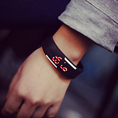 cheap Bracelet Watches-Men's Women's Couple's Digital Bracelet Watch LED Rubber Band Elegant Fashion Black White Blue Red Orange Green Pink Yellow