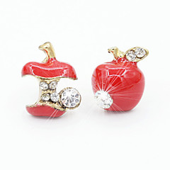 Stud Earrings Drop Earrings Cubic Zirconia Platinum Plated Alloy Fashion Red Green Jewelry 1set