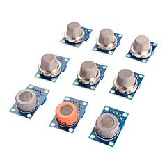 abordables Sensores-sensor de gas módulo kit mq-2 MQ-3 mq-4 mq 5-mq-6 mq-7 mq-8 mq-9 mq-135 del sensor de Arduino
