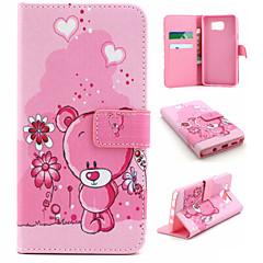 Для Samsung Galaxy Note Бумажник для карт / Кошелек / со стендом / Флип Кейс для Чехол Кейс для Животный принт Искусственная кожа Samsung
