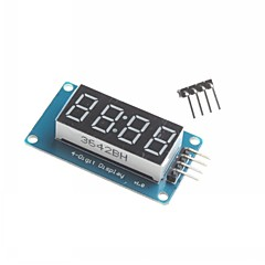 for Arduino 4 Digit LED Display Module LED Brightness Adjustable Point Fitting Blocks With Clock
