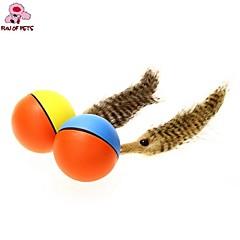 tanie -Zabawka dla kota Zabawka dla psa Zabawki dla zwierząt Owalne Zabawka z piórkami Elektroniczny Dla zwierząt domowych