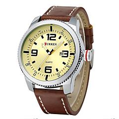 お買い得  大特価腕時計-CURREN 男性用 リストウォッチ クォーツ ブラック / ブラウン カレンダー ハンズ レディース チャーム - ブラック シルバーとブラック ゴールド / シルバー