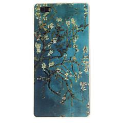 cheap Cases / Covers for Huawei-For Huawei Case / P8 Lite IMD Case Back Cover Case Tree Soft TPU Huawei Huawei P8 Lite