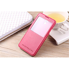 halpa Galaxy Note 5 kotelot / kuoret-Etui Käyttötarkoitus Samsung Galaxy Samsung Galaxy Note7 Tuella Ikkunalla Suojakuori Yhtenäinen väri PU-nahka varten Note 7 Note 5 Edge