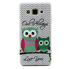 voordelige Galaxy A5 Hoesjes / covers-uil patroon tpu soft hoesje voor galaxy a5 / galaxy a3 galaxy a serie koffers / covers