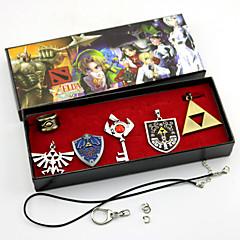 Mücevher Esinlenen The Legend of Zelda Cosplay Anime / Video Oyunları Cosplay Aksesuarları Kolyeler / Broş Gümüş Alaşım Erkek / Kadın