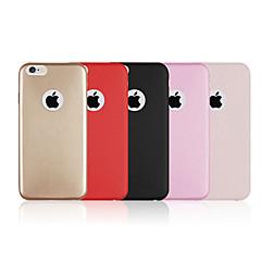 Недорогие Кейсы для iPhone 6-Кейс для Назначение Apple iPhone 6 iPhone 6 Plus Other Кейс на заднюю панель Сплошной цвет Твердый Кожа PU для iPhone 6s Plus iPhone 6s
