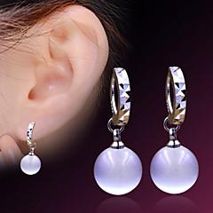 Woman Opal Sterling Silver Earrings