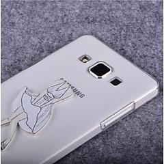 Varten Samsung Galaxy kotelo Läpinäkyvä Etui Takakuori Etui Seksikäs nainen PC SamsungYoung 2 / Trend Lite / Trend Duos / J7 / J5 / J1 /