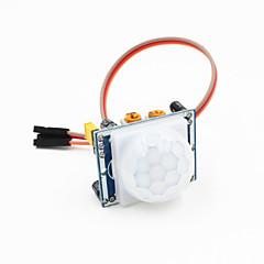 お買い得  センサー-Arduinoのための/ 3ピンケーブルワット焦電型赤外線PIRモーションセンサーの検出器モジュール - ブルー+ホワイト