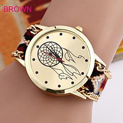 preiswerte Damenuhren-Damen Modeuhr Armband-Uhr Quartz Nylon Band Analog Schwarz / Blau / Braun - Braun Blau Rosa