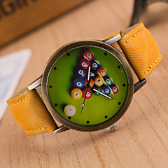 cheap Watch Deals-Men's Quartz Wrist Watch / Hot Sale Leather Band Vintage Casual Black White Blue Red Brown Green Grey Pink Yellow