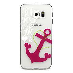 Na Samsung Galaxy Etui Etui Pokrowce Wzór Etui na tył Kılıf Kotwica Poliuretan termoplastyczny na Samsung Galaxy S6 edge plus S6 edge S6