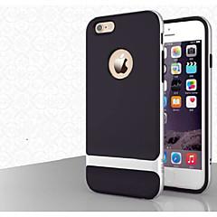 Недорогие Кейсы для iPhone 6-Кейс для Назначение Apple iPhone 6 iPhone 6 Plus Защита от удара Кейс на заднюю панель броня Мягкий Силикон для iPhone 6s Plus iPhone 6s