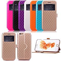 olcso iPhone 6 Plus tokok-Case Kompatibilitás Apple iPhone X iPhone 8 Plus iPhone 6 iPhone 6 Plus Állvánnyal Betekintő ablakkal Flip Minta Héjtok Mértani formák