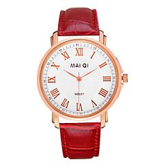 お買い得  メンズ腕時計-男性用 リストウォッチ クォーツ ホット販売 レザー バンド ハンズ チャーム レッド ライトブラウン ダークブラウン