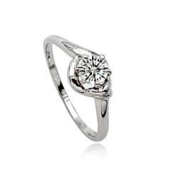 preiswerte Ringe-Damen Statement-Ring - Krystall, Diamantimitate, Aleación Personalisiert, Luxus, Europäisch 7 Silber Für Party / Alltag / Normal