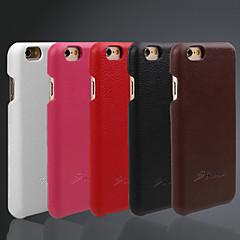 Недорогие Кейсы для iPhone 6-Кейс для Назначение iPhone 6s iPhone 6 Apple iPhone 6 Other Кейс на заднюю панель Сплошной цвет Твердый Настоящая кожа для iPhone 6s