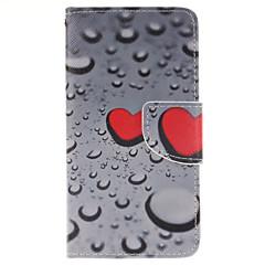 Voor Samsung Galaxy hoesje Kaarthouder / met standaard / Flip / Magnetisch / Patroon hoesje Volledige behuizing hoesje Hart PU-leer