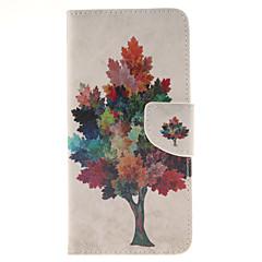 For Samsung Galaxy Note Pung / Kortholder / Med stativ / Flip Etui Heldækkende Etui Træ Kunstlæder Samsung Note 5