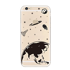 tanie Etui do iPhone 6-Kılıf Na Apple iPhone 8 iPhone 8 Plus iPhone 6 iPhone 6 Plus iPhone 7 Plus iPhone 7 Przezroczyste Czarne etui Zabawa z logiem Apple