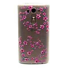 Χαμηλού Κόστους Θήκες / Καλύμματα για LG-Για Θήκη LG Θήκες Καλύμματα Διαφανής Πίσω Κάλυμμα tok Λουλούδι Μαλακή TPU για LG LG G3 LG Spirit/LG C70 H422