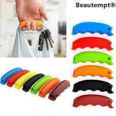 키 체인 구멍 1PCS 다기능 실리콘 쇼핑 가방 그립 핸들 캐리어 식료품 홀더 (임의의 색상