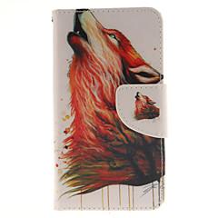 Недорогие Чехлы и кейсы для Sony-Кейс для Назначение Sony Xperia Z5 Compact Sony Кейс для Sony Бумажник для карт Кошелек со стендом Флип Чехол Животное Твердый Кожа PU для