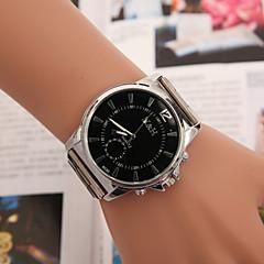 preiswerte Tolle Angebote auf Uhren-Herrn Damen Paar Modeuhr Quartz Designer / schweizerisch Edelstahl Band Analog Freizeit Silber - Weiß Schwarz