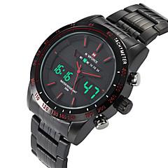 お買い得  メンズ腕時計-男性 リストウォッチ デジタルウォッチ クォーツ デジタル 耐水 スポーツウォッチ 合金 バンド ブラック シルバー 2 # 3 # 4 # 5 # 6 #