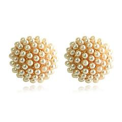 preiswerte Ohrringe-Damen Ohrstecker - Perle, vergoldet Golden Für Party Alltag Normal