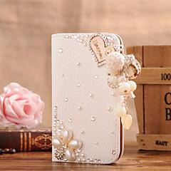 Για Samsung Galaxy Θήκη Θήκη καρτών / Στρας / Ανοιγόμενη tok Πλήρης κάλυψη tok Καρδιά Συνθετικό δέρμα SamsungS7 edge / S7 / S6 edge plus