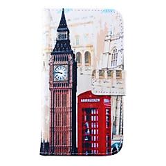 tanie Galaxy S4 Mini Etui / Pokrowce-Kılıf Na Samsung Galaxy Samsung Galaxy Etui Etui na karty Portfel Z podpórką Flip Pełne etui Widok miasta Skóra PU na S5 Mini S5 S4 Mini