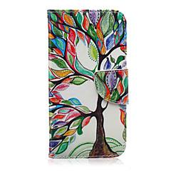 Недорогие Чехлы и кейсы для Galaxy Alpha-Кейс для Назначение SSamsung Galaxy Кейс для  Samsung Galaxy Кошелек / Бумажник для карт / со стендом Чехол дерево Кожа PU для J7 / J5 / J3