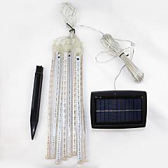 preiswerte LED Lichtstreifen-LED-Solarleuchten 144 LEDs Kühles Weiß Wiederaufladbar / Dekorativ Batterie