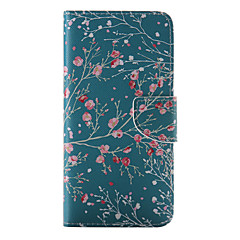 tanie Etui do iPhone 4s / 4-Kılıf Na Apple iPhone 8 iPhone 8 Plus iPhone 6 iPhone 6 Plus Etui na karty Portfel Z podpórką Flip Wzór Pełne etui Kwiaty Twarde Skóra PU
