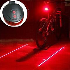 Cykellys Lanterner & Telt Lamper Baglygte til cykel sikkerhedslys Laser LED - Cykling Nedslags Resistent Nemt at bære Varsling AAA 400