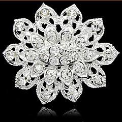 hesapli -Gümüş Kaplama Tam Yapay elmas Broş