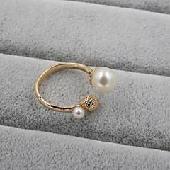 preiswerte Ringe-Damen Bandring - Perle, Strass, Emaille Ohne Verschluss Schmuck Für Hochzeit Party Alltag Normal Sport Verstellbar / Aleación