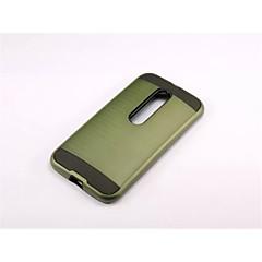 Για Θήκη Motorola Ανθεκτική σε πτώσεις tok Πίσω Κάλυμμα tok Πανοπλία Σκληρή PC για Motorola MOTO G4 / Moto G4 Plus