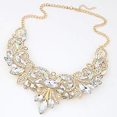 preiswerte Halsketten-Weiß Statement Ketten - Prinzessin Erklärung, Luxus, Europäisch Gold, Purpur Modische Halsketten Schmuck Für Hochzeit, Party, Besondere Anlässe