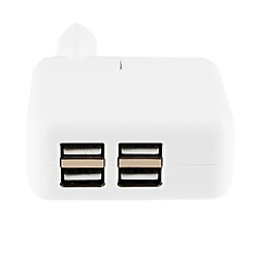 4 usb AC carregador de rede eu adaptador para iphone 8 7 samsung s8 s7 6 iphone 8 7 samsung s8 s7 6 plus