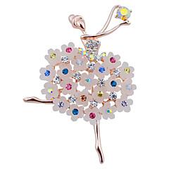 tańczyć balet dziewczyna kwiat Rhinestone broszkę