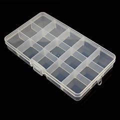 abordables Cuidado Médico y Personal-Caja de almacenamiento de 15 compartimentos combinación libre de plástico para herramientas de hardware